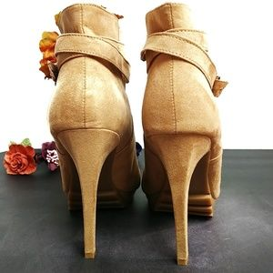 Forever 21 Shoes - Forever 21 Vegan Suede High Heeled Booties